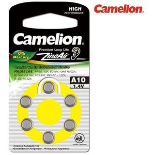 {MPower} 德國名廠 Camelion A10 1.4V Zinc Air Hearing Aid Battery 助聽器 電池 鈕扣電池 ( PR70 ) - 原裝行貨
