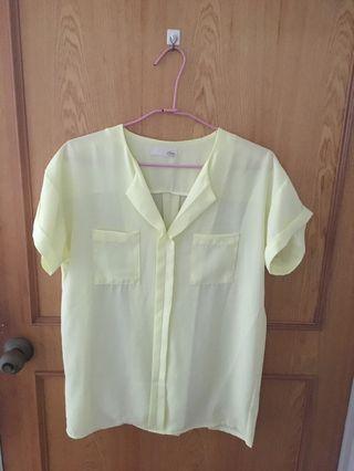 🚚 亮麗黃襯衫