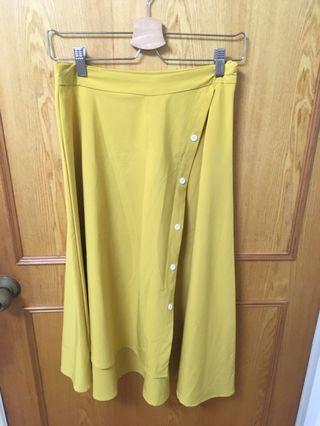 🚚 芥黃長裙