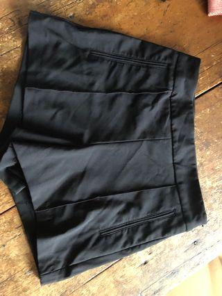 Seed Black Shorts (Highwaisted)