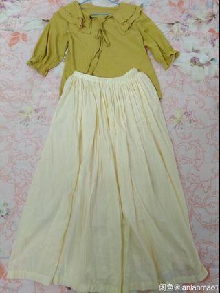 90%🆕米色半身長裙