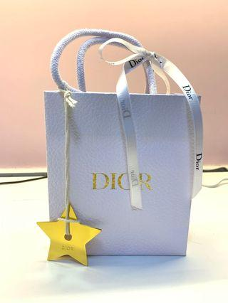 Dior paper bag (with ribbon and Dior star)