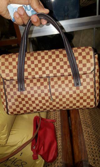 Louis Vuitton Damier Fur Hand Bag Authentic