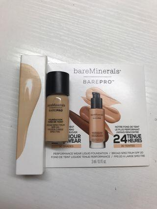 Bare minerals barepro liquid foundation spf20 粉底液 3ml