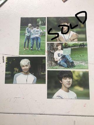 Bts official 2nd muster mini photocard kpop