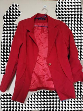 紅色西裝外套