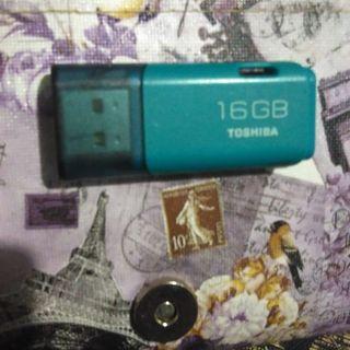 #MauTHR Toshiba Flashdisk 16 GB Green Colour.