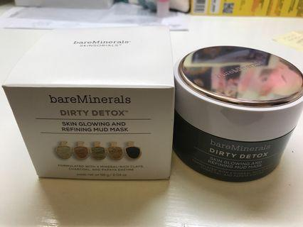 Bare minerals dirty detox clay mud mask 58g 排毒面膜