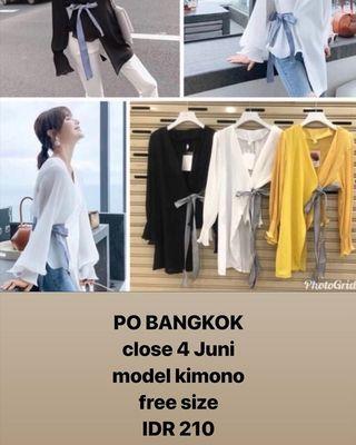 Model kimoni top baju po bangkok 13 juni ready