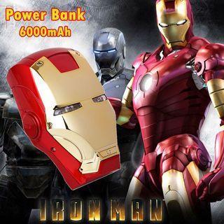 Power Bank Iron Man Avengers 6000mAH Marvel Cute