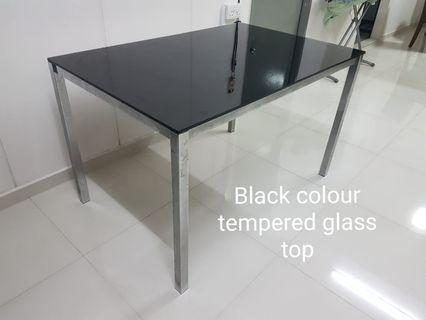 Tempered Glass Dining Table with 4 chairs