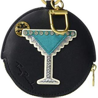 Tory Burch Martini Black Leather Coin Case