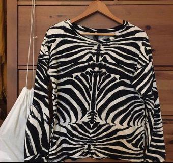 H&M zebra Animal Print Top #Rayathon50