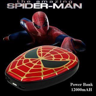 Power Bank Spider Man Avengers 12000mAH Marvel Cute