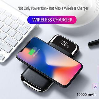 Wireless Charger Power Bank Qi 10000mAh Slim Design