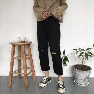 (brand new) black ripped jeans