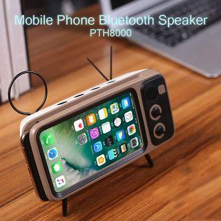 Bluetooth Stereo Wireless Speakers TV Shaped Retro