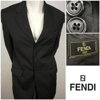 FENDI ITALY Single Breasted Blazer
