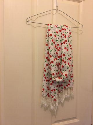 Super cute cherry scarf