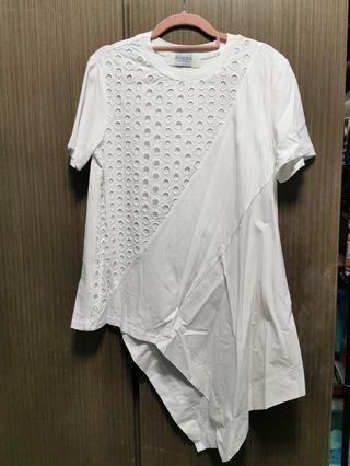 韓貨全新白色短袖衫
