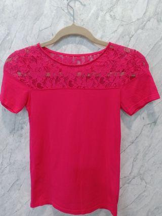 Cute cotton pink T