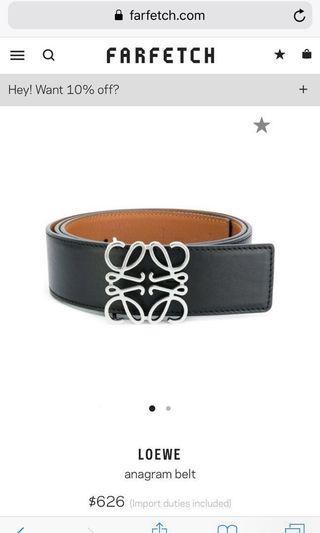 Loewe belt (2sided use)authentic