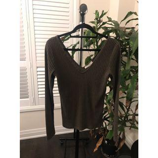 Aritzia long sleeve olive sweater