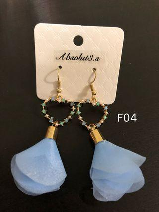🚚 F-04 blue heart flower