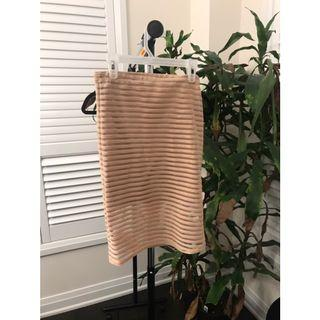 Striped nude skirt