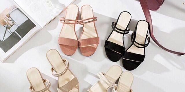 涼鞋 魚口鞋 鞋 拖鞋 黑色