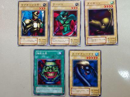 遊戲王卡 5張 (另有pokemon及數碼暴龍卡)