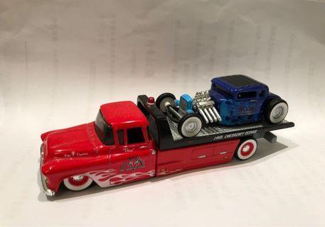 Maisto 1/64 AllStars Elite Transport 1957 Chevrolet Flatbed/1929 Ford Model A Hot Rod
