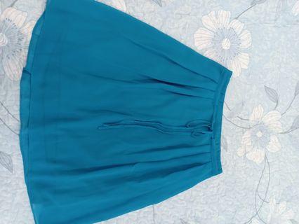 Chiffon turquoise color skirt