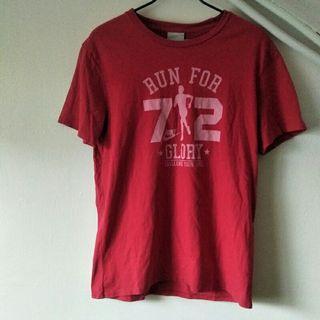 🚚 Nike 磚紅RUN FOR 72 休閒 短袖T恤