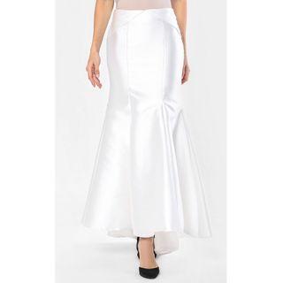 AINAHARIZ KUALA LUMPUR Panel Skirt In Off White