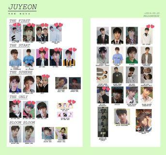THE BOYZ JUYEON PHOTOCARDS 2017~2019