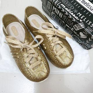 BRAND NEW! Mini Melissa Love System s12 gold glitter