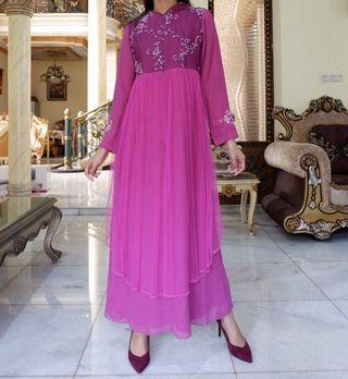 Pink magenta dress