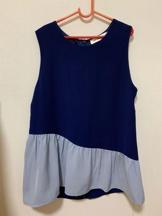 Shop sassy dream blue colourblock top