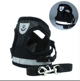 Pet harness with reflective strip