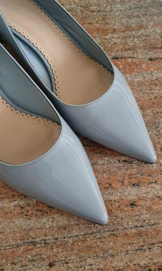Baby Blue Court Shoe