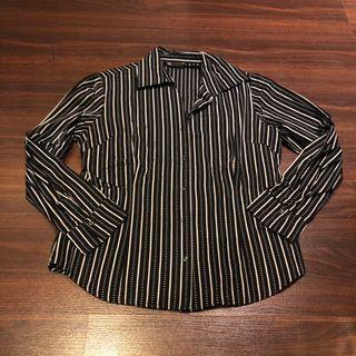 Black Striped Polo