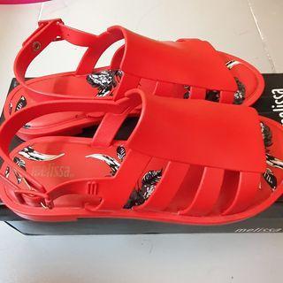 MELISSA Boemia s7 red euc-like new terno twinning mini mel like flox sandals slippers women's shoes flats flatform