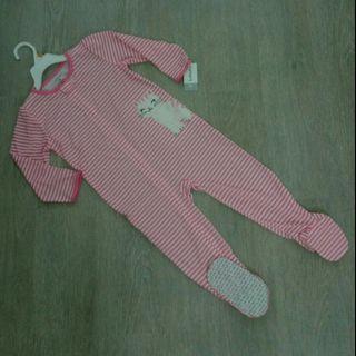 NEW 3T Carter's Girl Long Sleeve Sleepwear / Playsuit