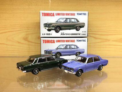 Tomica Limited Vintage Neo Tomytec Nissan Skyline 2000GT-X 1972 兩架