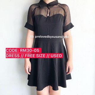 [SALE - FURTHER PRICE REDUCED] Black Skater Dress