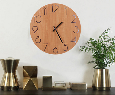 Wall clock  - Nordic Designs / Wood