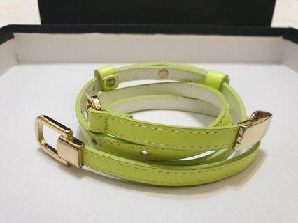 韓國時尚綠色皮帶