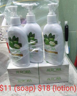 Aurora Soap and Lotion