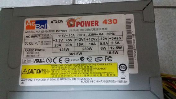 Ps 430watts